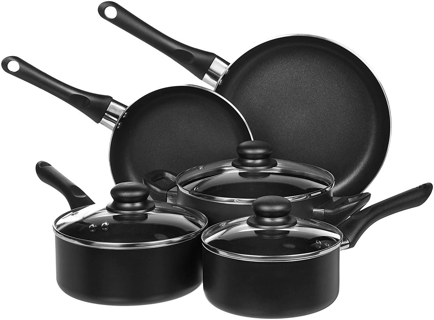 Amazonbasics 8 Piece Non Stick Cookware Set Best Cooking