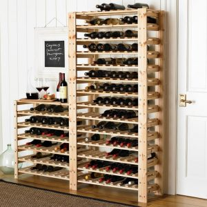 Swedish Wood Shelving Wine Racks